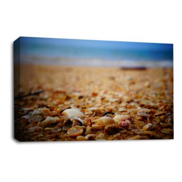 Sunset Landscape Wall Art Picture Beach Pebbles Seaside Print